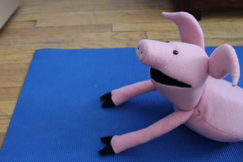 A little bit of morning yoga does the body good.